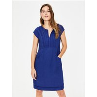 Jessica Linen Dress Navy Women Boden, Navy