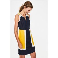 Anita Linen Dress Navy Women Boden, Navy