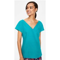 Alexandra Linen Top Blue