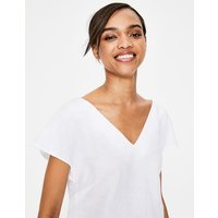 Alexandra Linen Top White