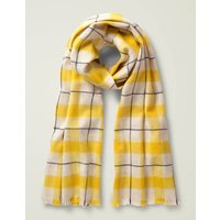 Wool Scarf Yellow Women Boden, Beige