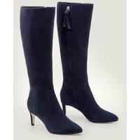 Kenton Knee High Boots Navy Women Boden, Navy