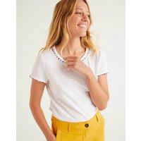 Charlie Jersey T-shirt White Women Boden, White