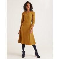 Nancy Ponte Dress Gold Women Boden, Gold