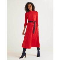 Nerissa Ponte Dress Red Women Boden, Navy