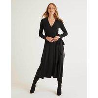 Laurie Jersey Dress Black Women Boden, Black