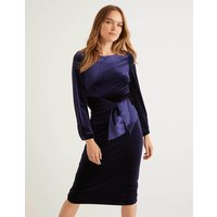Julianna Velvet Dress Navy Women Boden, Navy