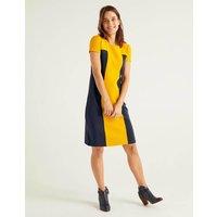 Lizzie Ottoman Dress Yellow Women Boden, Navy