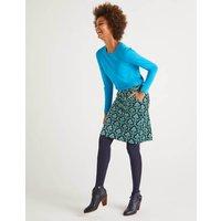 Mimi Velvet Skirt Navy Women Boden, Green