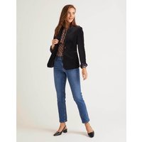 Sackville-West Velvet Blazer Navy Women Boden, Navy