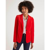 Sackville-West Velvet Blazer Red Women Boden, Navy