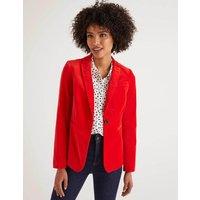 Sackville-West Velvet Blazer Red Women Boden, Navy