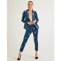 Sackville-West Velvet Blazer Blue Women Boden, Blue