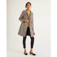 Hengrave Tweed Coat Yellow Women Boden, yellow