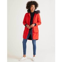 Marsden Parka Red Women Boden, Navy