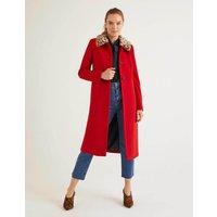 Austen Coat Red Christmas Boden, Red