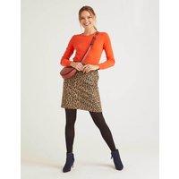 Betsy Mini Skirt Natural Women Boden, Leopard