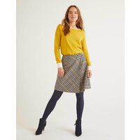 Eleanor Tweed Kilt Yellow Prince of Wales Women Boden, Yellow Prince of Wales