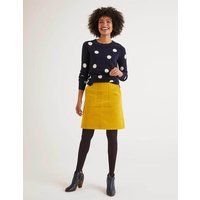 Leonie Cord Mini Skirt Yellow Women Boden, Orange