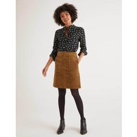 Leonie Cord Mini Skirt Brown Women Boden, Brown