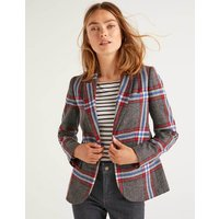 Smyth British Tweed Blazer Red and Blue Check Women Boden, Red and Blue Check