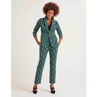 Velvet Trousers Navy Women Boden, Green