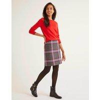 British Tweed Mini Skirt Grey Women Boden, Grey