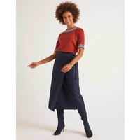 Constance Wrap Skirt Navy Women Boden, Navy