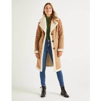 Bell Teddy Lined Coat Natural Women Boden, Natural