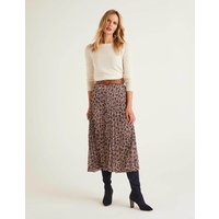 Camille Pleated Skirt Brown Women Boden, Brown