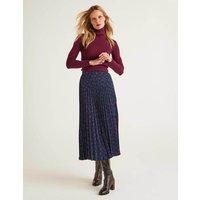 Camille Pleated Skirt Purple Women Boden, Leopard