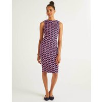 Seam Detail Martha Dress French Navy and Pink Fizz, Fan Women Boden, French Navy and Pink Fizz, Fan
