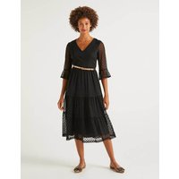 Rosanna Embroidered Dress Black Women Boden, Black