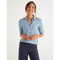 Linen Shirt Blue Women Boden, Blue