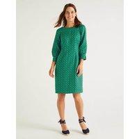 Kate Linen Dress Rich Emerald Sun Dial Women Boden, Rich Emerald Sun Dial