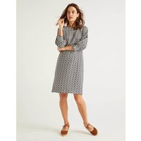 Kate Linen Dress French Navy Sun Dial Women Boden, French Navy Sun Dial