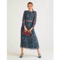 Ellen Maxi Dress Blue Women Boden, Tan