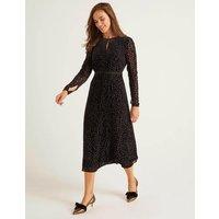 Marie Devore Dress Black Women Boden, Black