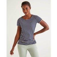 Short Sleeve Breton Navy Women Boden, Navy