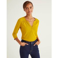 Boden The Cotton Notch Tee Yellow Women Boden, Yellow