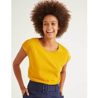 The Cotton Tee Yellow Women Boden, Yellow
