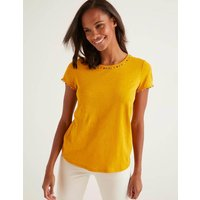 Charlie Jersey T-shirt Yellow Women Boden, Yellow