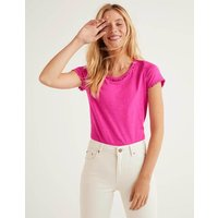 Boden Charlie Jersey T-shirt Pink Christmas Boden, Multicouloured