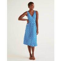Effie Jersey Dress Blue Women Boden, Blue