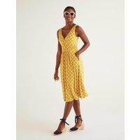 Effie Jersey Dress Yellow Women Boden, Yellow