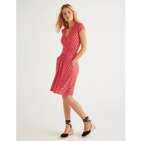 Lola Jersey Dress Post Box Red, Link Women Boden, Post Box Red, Link