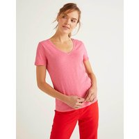 Boden The Cotton V-neck Tee Pink Women Boden, Camel