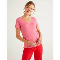Boden The Cotton V-neck Tee Pink Women Boden, Camel