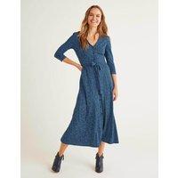 Fleur Jersey Midi Dress Blue Women Boden, Blue