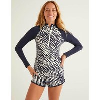Boden Zip Up Rash Vest Navy Women Boden, Navy